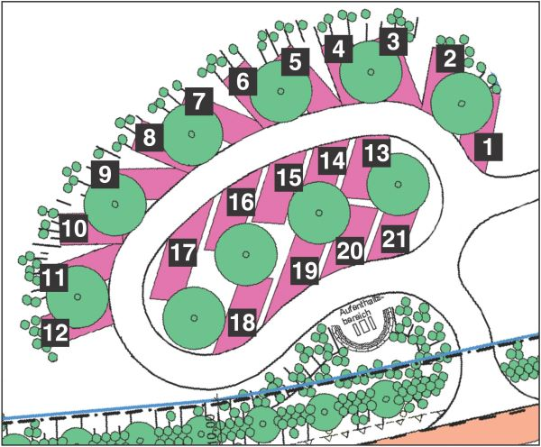 Plan des Reisemobil-Parks