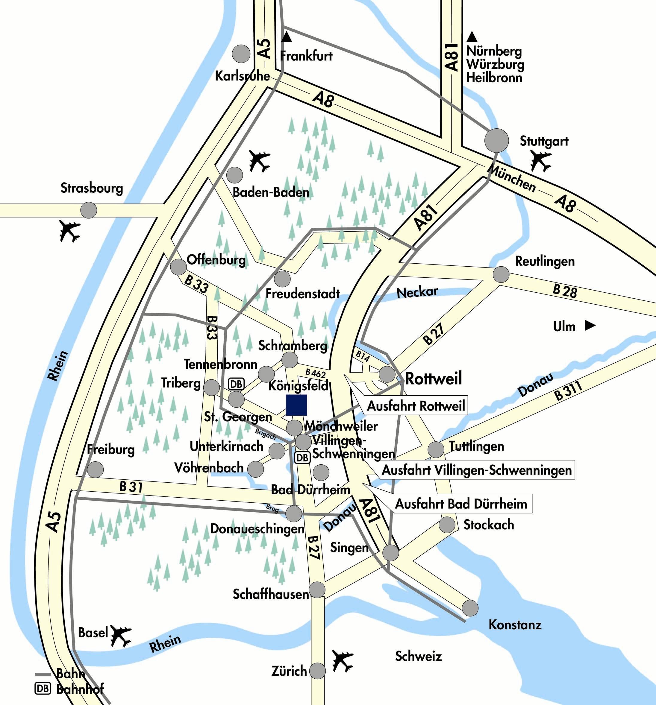 Aktuelle Anfahrtsskizze 2007