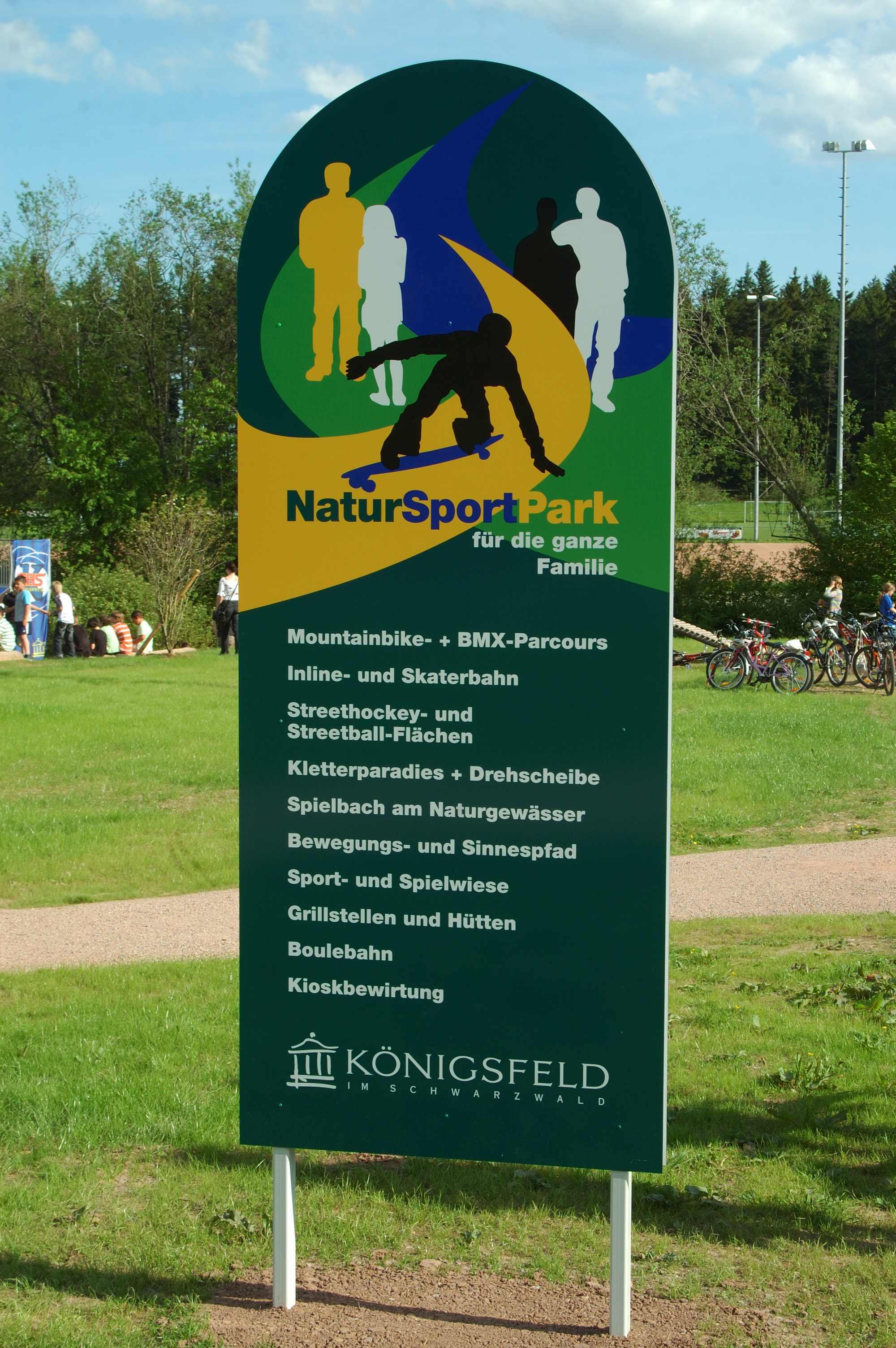 Eingangsschild des Parks