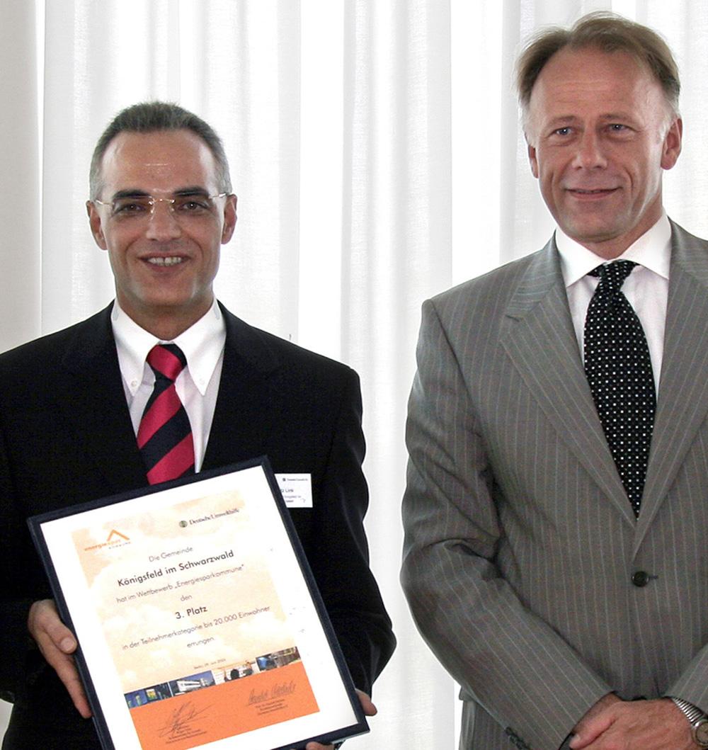 Bild von Bürgermeister Link und Jürgen Trittin