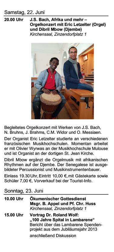 Albert Schweitzer Tage 2019 Programm Sonntag